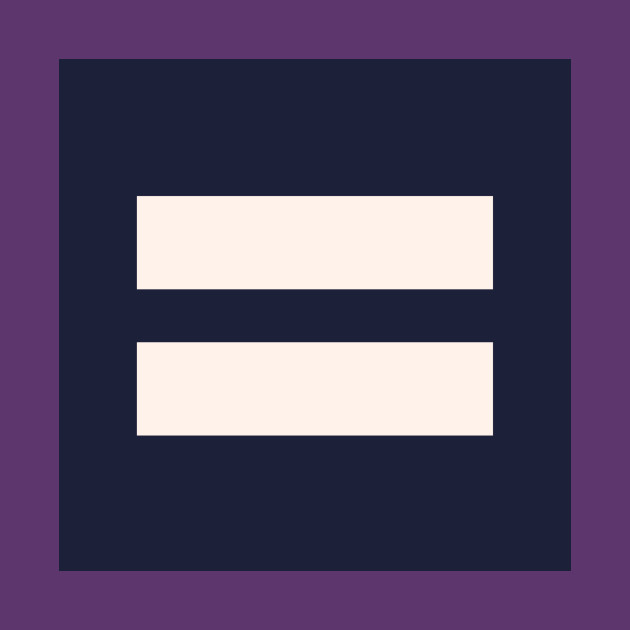 Solid Purple Equality T-shirt