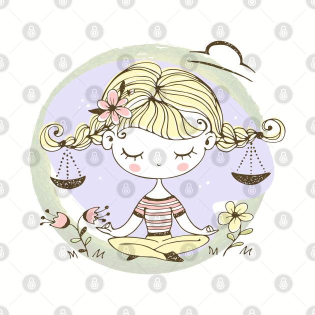 Zodiac Libra Cute Kid Design Horoscope Gift