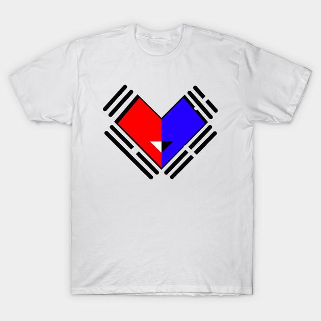 smiling heart of korean flag korea t shirt teepublic