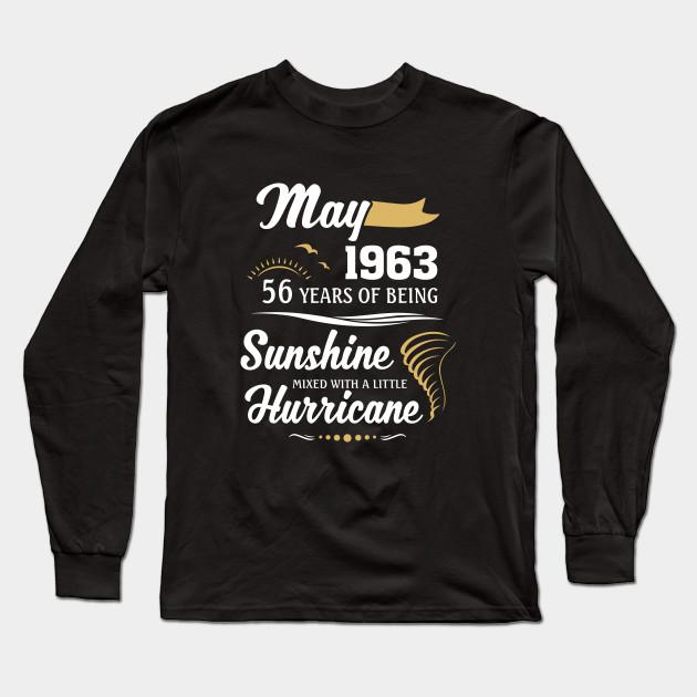 Birth Date MADE IN 1963 Birthday Themed Women/'s T-Shirt Birth Year