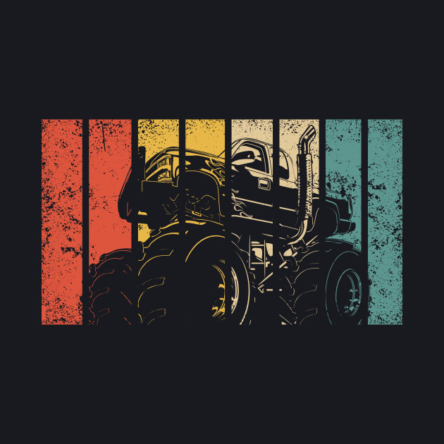 Retro Monster Trucks Gift I Vintage Big Trucks
