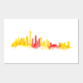 seattle skyline posters and art prints teepublic