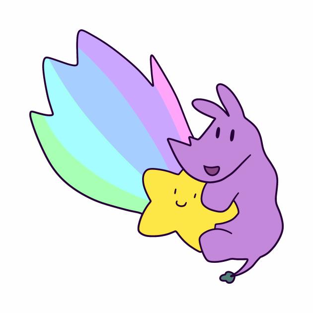 Rainbow Shooting Star Rhino