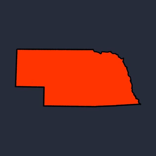 Nebraska - Orange Outline