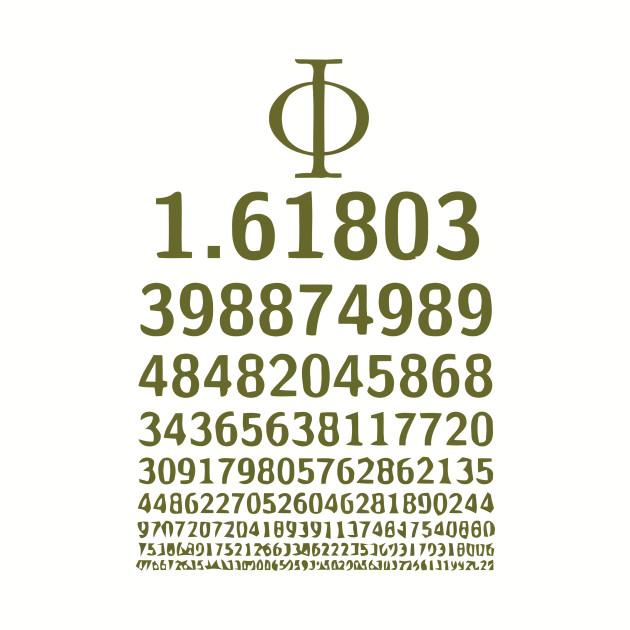 1618 Phi Golden Ratio Symbol Math Lovers Phi Ratio Baseball T