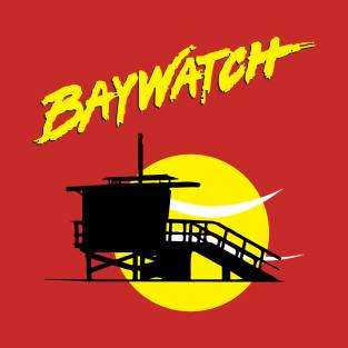 Baywatch Lifeguard Tower Sunset t-shirts