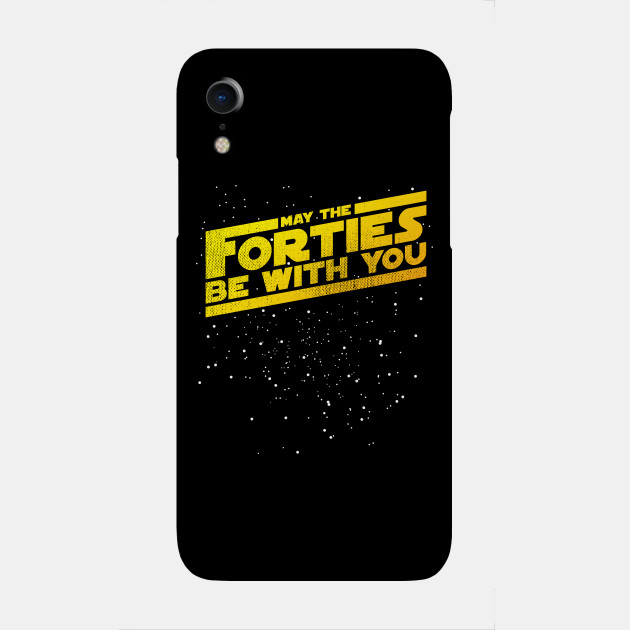 May The Forties Be With You Vintage 40th Birthday Distressed Star Illustration Phone Case