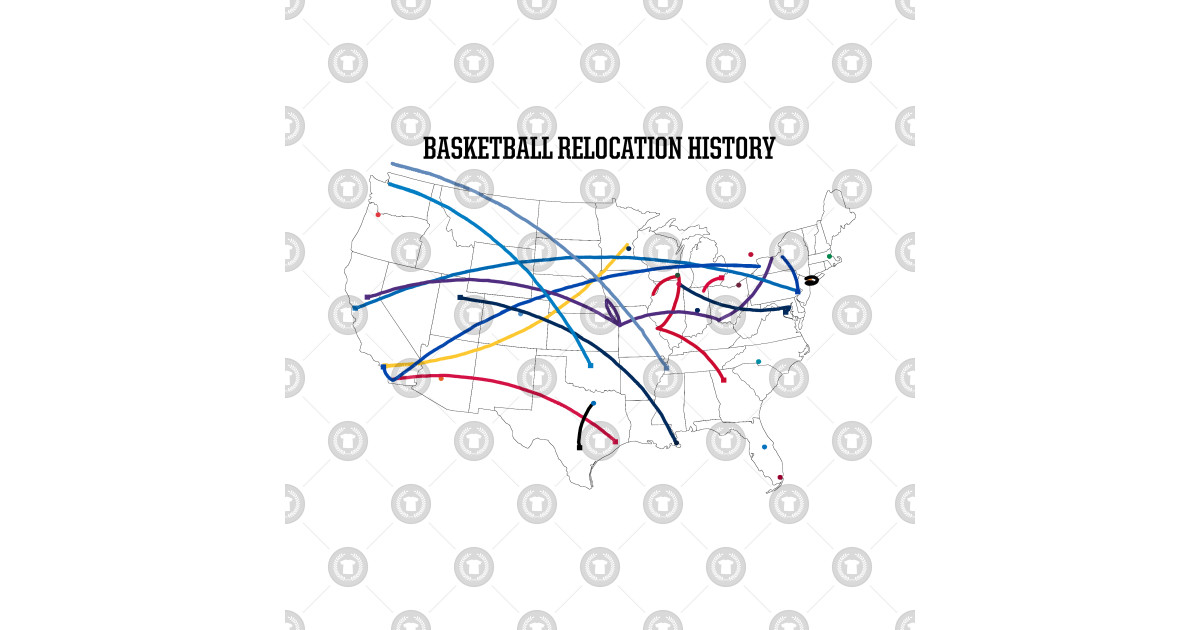 NBA Relocation Map by uniauthority