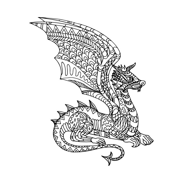 Mandala dragon dragon t shirt teepublic - Mandala dragon ...