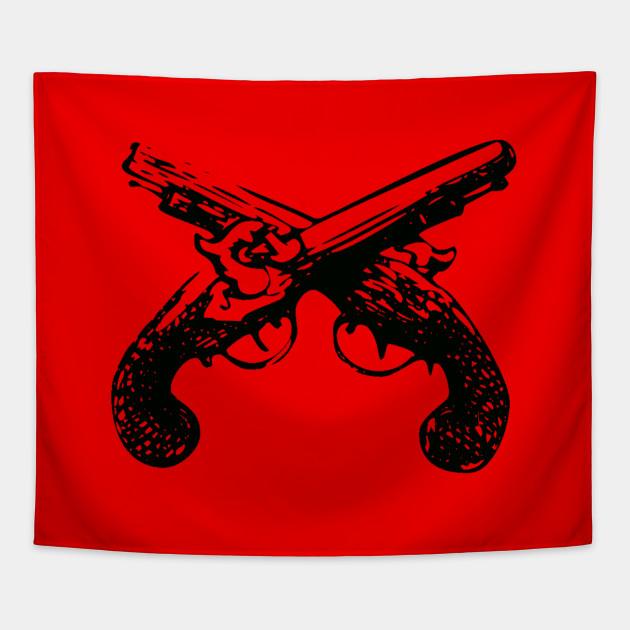 Crossed Flintlock Pistols - Crossed Guns USA Vintage Rustic