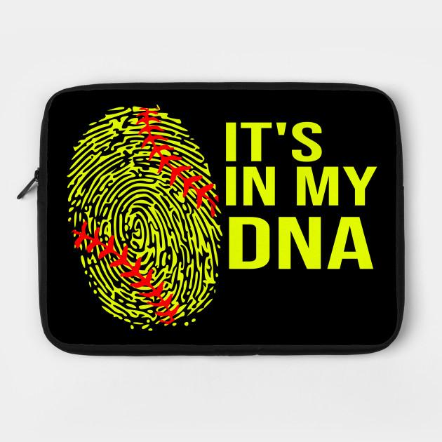 Softball It's in My DNA Fingerprint Girl Sports