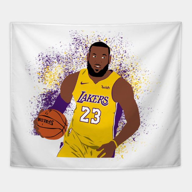 65bf49bd844 LeBron James Lakers - Lebron James - Tapestry   TeePublic