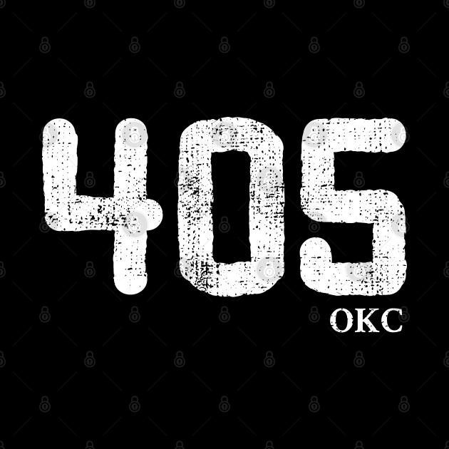 405 Oklahoma Area Code, distressed vintage design for Oklahoma City