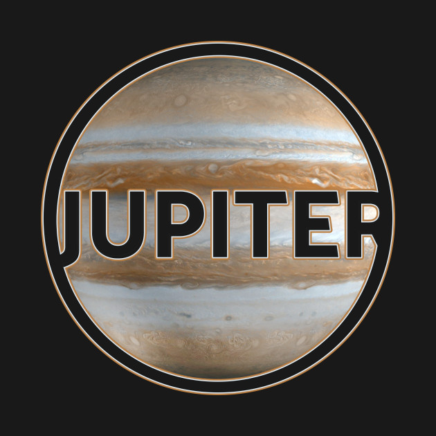 Planet Jupiter with lettering gift space idea