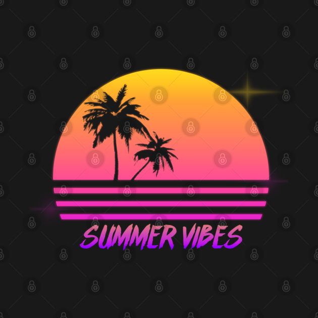 Summer Vibes - Retro Synth Sunset Style
