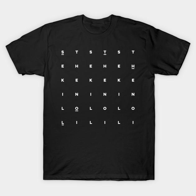 0b1f6586f Sloth Word Search Puzzle Typography Design - Sloth - T-Shirt   TeePublic