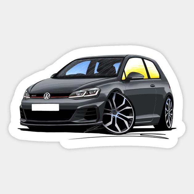 Vw Golf Mk7 5 Gti Grey Golf Gti Sticker Teepublic