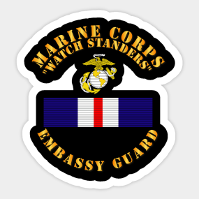 Main Tag Marine Corps Security Guard Sticker