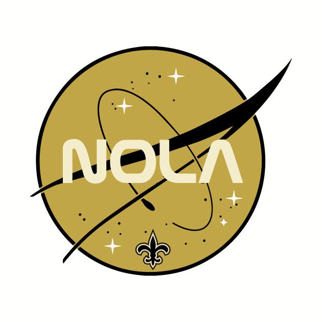 852eb787 Nola Nasa mashup - New Orleans Saints - Long Sleeve T-Shirt | TeePublic