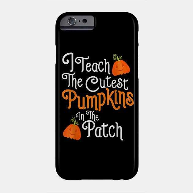 Funny Halloween Shirt For Teachers With Pumpkins Best Gift Phone Case