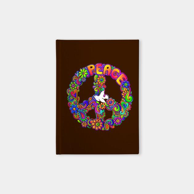 Hippie Flower Power Peace Sign Peace Symbol Flower Notebook