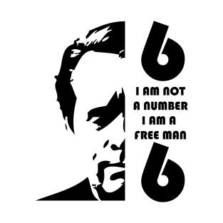 i am not a number, i am a free man t-shirts