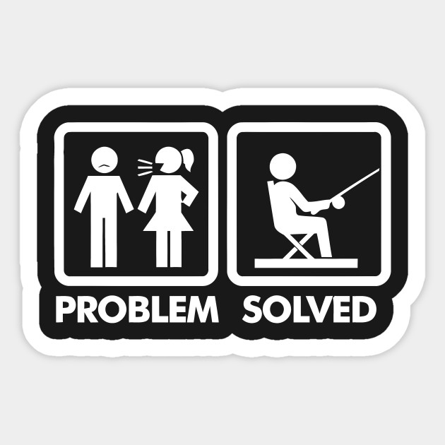 Funny Golf Problem Solved T-Shirt | Spreadshirt |Problem Solved Sign