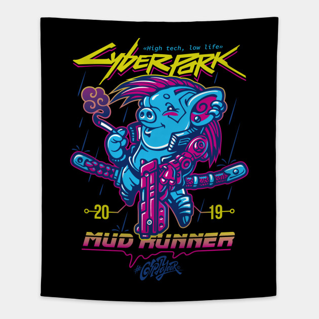 Cyberpork 2019: Mud Runner. Black