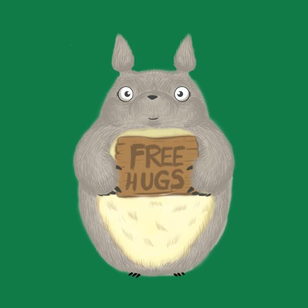 Totoro Free Hugs T-Shirt