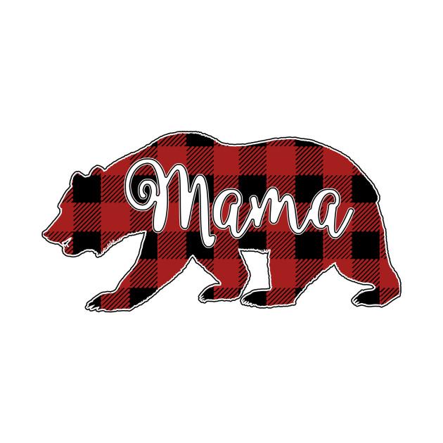 c3f33393 Mama Bear buffalo plaid Shirt - Mama Bear Gifts - Kids Long Sleeve T ...