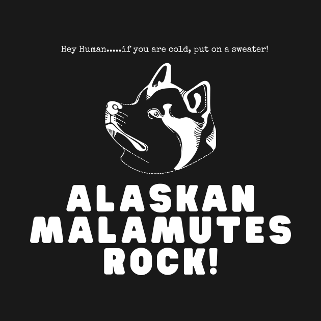 Alaskan Malamutes Rock