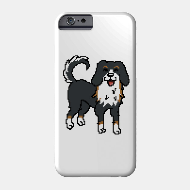 Bernese Mountain Dog Pixel Art