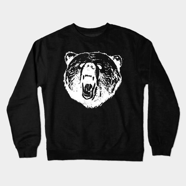 Angry Bear Head Design Crewneck Sweatshirt dcf541aad