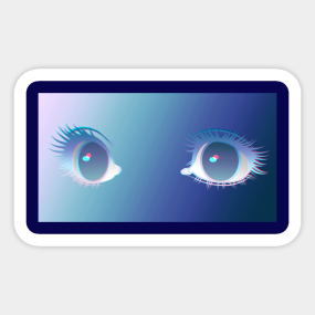 Anime Eyes Stickers