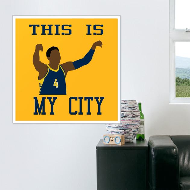 Victor Oladipo This is My City - Victor Oladipo - Wall Art | TeePublic