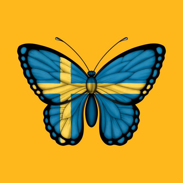 6ab239f3 Swedish Flag Butterfly - Sweden - T-Shirt | TeePublic