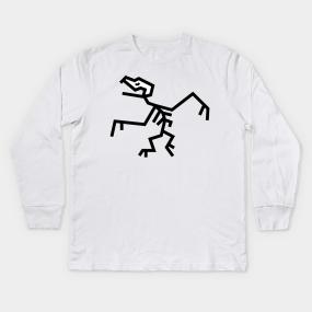 26291cc4d Pterodactyl Fossil Skeleton (Flying Dinosaur) Kids Long Sleeve T-Shirt