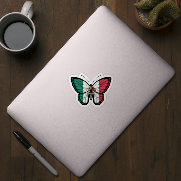 Mexican Flag Butterfly - Mexico - Sticker | TeePublic