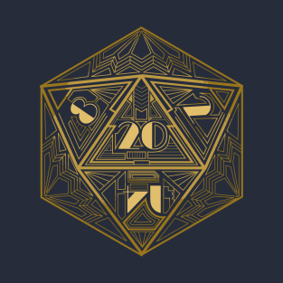 D20 Art Deco t-shirts
