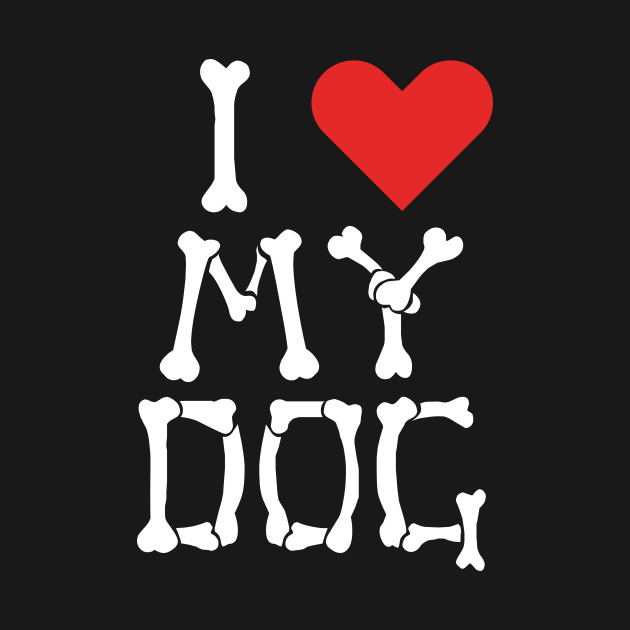 I Heart My Dog Bones Design