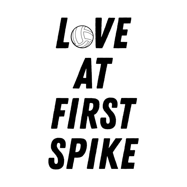 Love at First Spike Volleyball Design