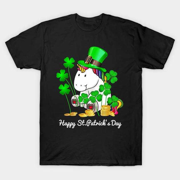 Unicorn Happy St. Patrick's Day Shirt T-Shirt