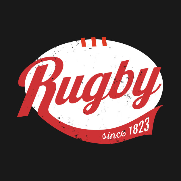 Cool rugby logo type distressed