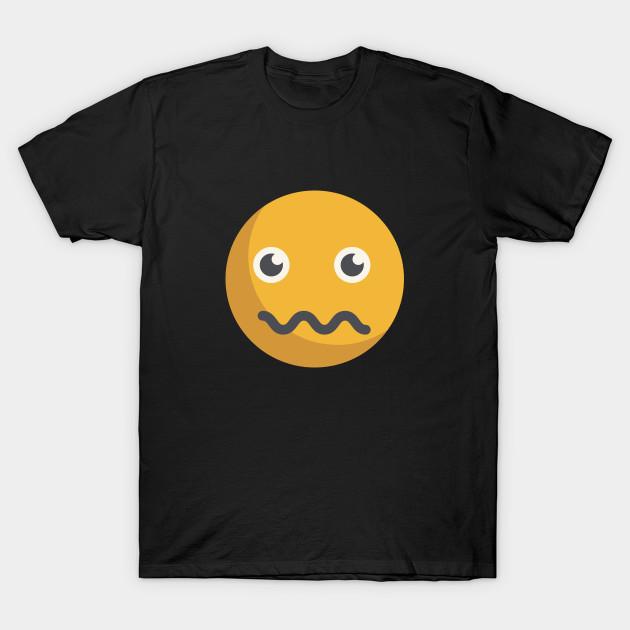scared emoji emoji t shirt teepublic
