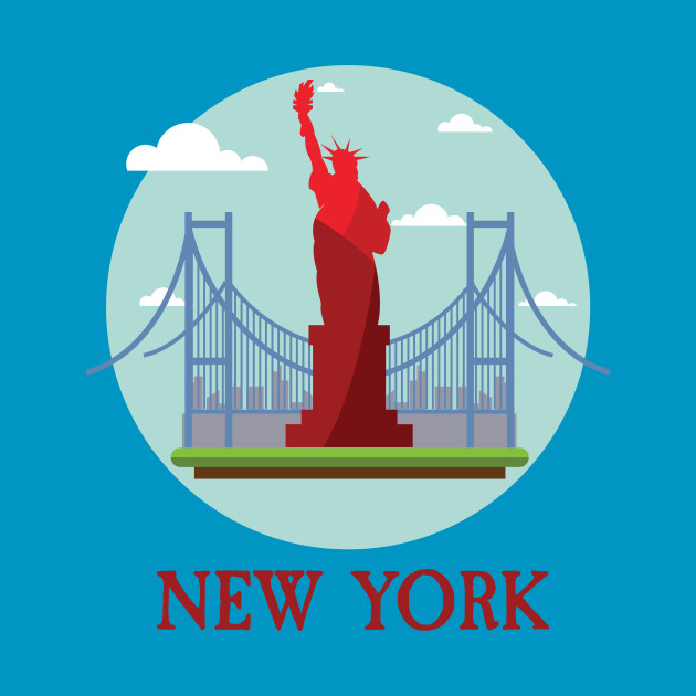 New York City NYC Manhattan I Love NYC Visitor Tourist Travellers Tee