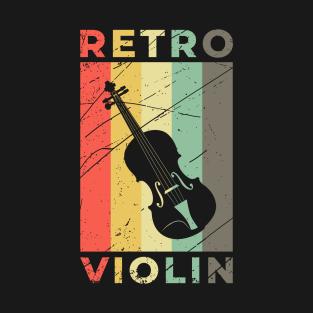 Violin Fiddle Gift Musical Instrument Vintage T-Shirt