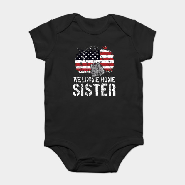 Welcome Home Sister Military Matching Quote Gift Idea