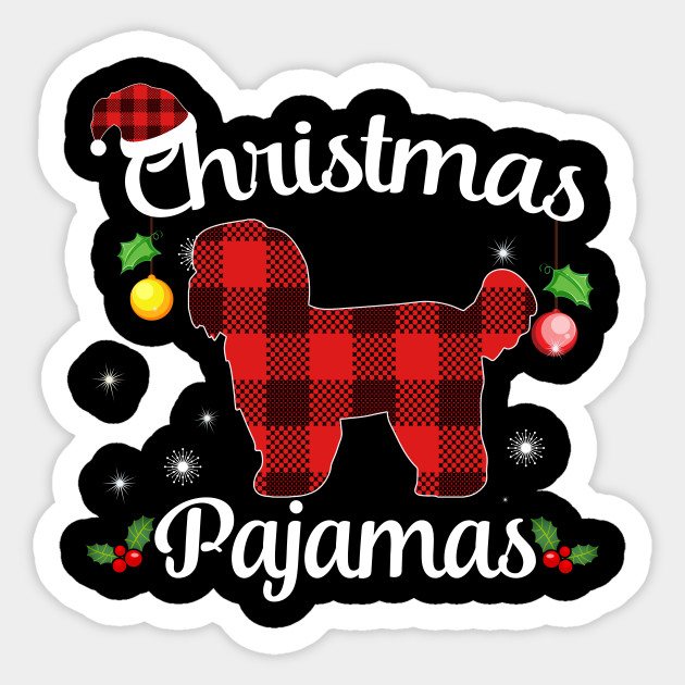 Christmas Pajamas For Dog.Shih Tzu Buffalo Plaid Christmas Pajamas Dog Lovers
