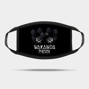 Wakanda Forever Chadwick Boseman Masks Teepublic
