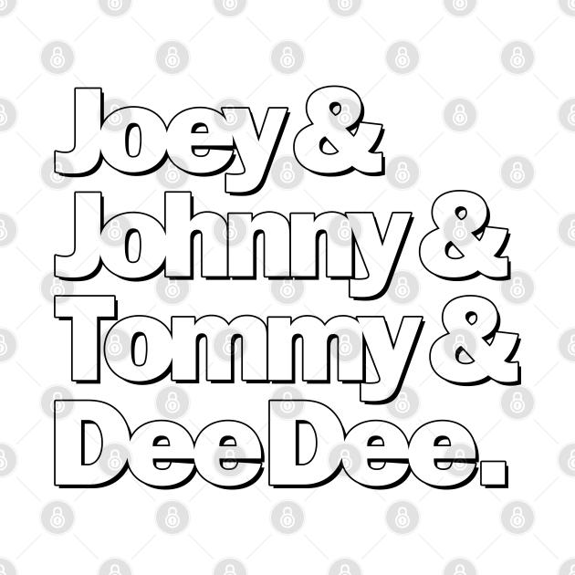 Joey & Johnny& Tommy & Dee Dee
